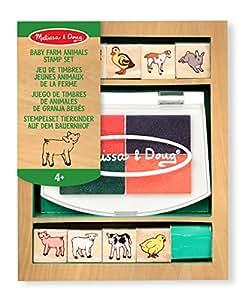 Melissa & Doug - 11639 - Loisir Créatif - Jeu de timbres jeunes animaux de la ferme