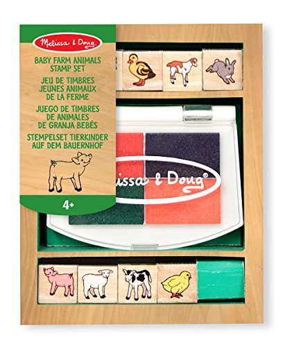 Melissa & Doug Baby Farm Animals Stamp Set - 1