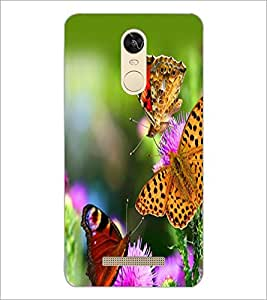 PrintDhaba Butterflies D-2331 Back Case Cover for XIAOMI REDMI NOTE 3 PRO (Multi-Coloured)