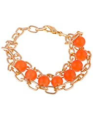 Kaveri Art & Deco Orange Beats Bracelet For Women ( Kaveri_33)