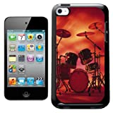 Fancy A Snuggle Rocking Rock Band Drum Set With Cymbals Design Hard Back Case Cover for Apple iPod Touch 4th Generation