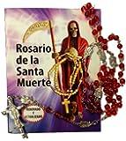 Beautiful Holy Death Rosary and Prayer Book (Text in Spanish). Hermoso Rosario De La Santa Muerte, Con Libro Para Rezarlo.