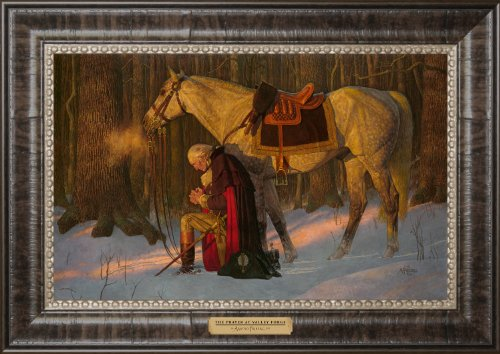 The Prayer at Valley Forge- Arnold Friberg- Gallery Quality Framed Art Print Gift Textured Edition title plaque 11.5