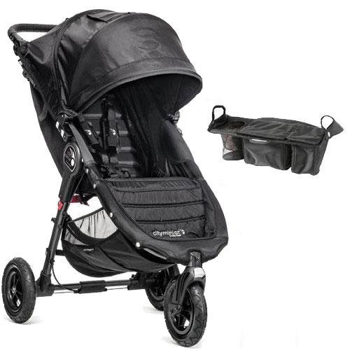 Baby-Jogger-City-Mini-GT-Single-Stroller-with-Parent-Console-Black-Black