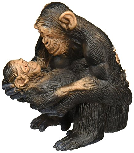 Schleich Chimpanzee Female with Baby Toy Figure