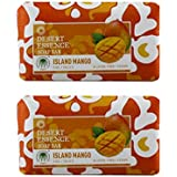 Desert Essence Island Mango Soap Bar With Vitamin-rich Mango Seed Butter, Jojoba Seed Oil And Aloe Vera, Gluten-Free...
