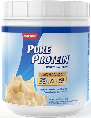 Pure protein whey protein vanilla cream