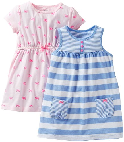 Carter'S Baby Girls' 2 Piece Dress And Romper Set (Baby) - Blue/Pink - 12 Months