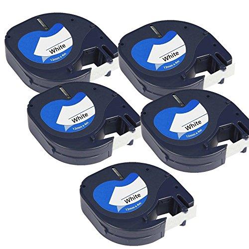 compatible-5-x-dymo-letratag-91201-s0721610-standard-etiquetage-ruban-noir-blanc-pour-letratag-lt110