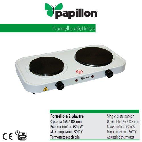 Papillon fornello elettrico da campeggio 2 piastra piano for Fornello campeggio elettrico
