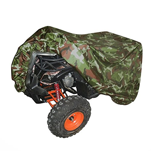 Universal All Weather ATV Cover, Waterproof Dust Sun Wind Proof Outdoor ATV UV Cover, Durable Quad Storage Protection for Honda Polaris Yamaha Suzuki (Camo, XL) (Master Implement Kit compare prices)