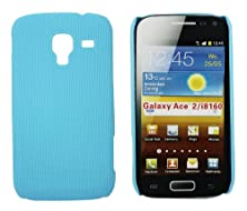buy Kit Me Out Us Hard Clip-On Case For Samsung Galaxy Ace 2 I8160 - Light Blue Smooth Touch Textured