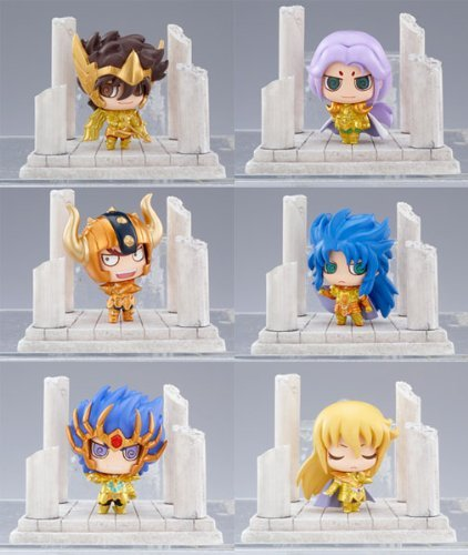 Saint Seiya: Twelve Golden Temples Petit Chara Land Mini PVC Figures (1 Random Blind Box) by Animewild