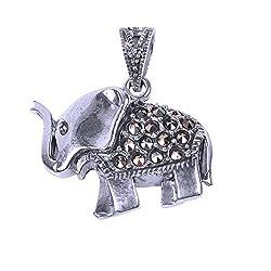 Shiva Rudraksha Ratna Elephant Pendant 925 Sterling Silver