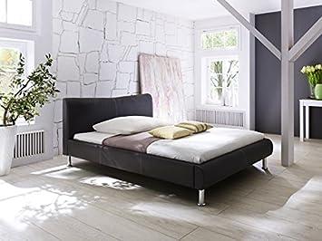 Polsterbett Bett Kunstleder 5071030000 braun / beige 140x200cm