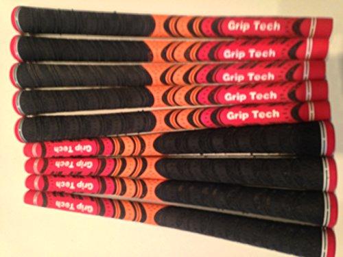 New, 9-er Set, schwarz-rot, orange Multi Compound Golfschläger-Griffe, Anleitung
