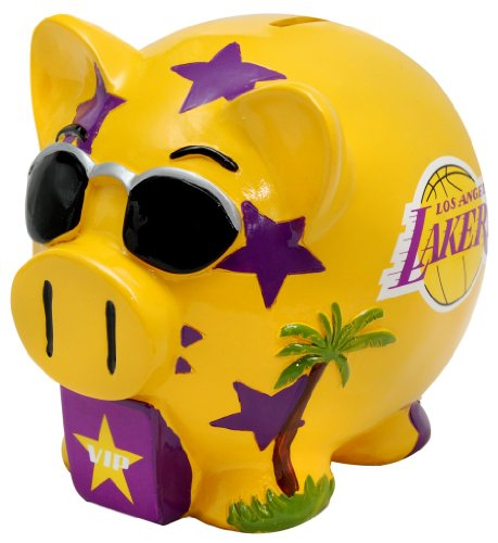 Los Angeles Lakers Small Thematic Piggy Bank - 1