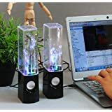 Fancystyle Dancing Water Speakers LED Speakers Light Show Water Fountain Speakers 3.5mm Audio Plug 4 Colored LED...