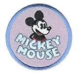 Mickey Mouse Round Disney Iron On Applique Patch