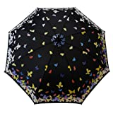 Wet Dry Magic Color Changing Butterfly Print Umbrella