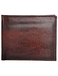 Fashno Men's Genuine Leather Black Wallet (FBL_007)