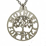 Mothers for Peace Tree of Life Silver-dipped Pendant Necklace on 18