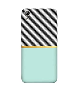 Teal Black Lines HTC Desire 626 Printed Back Cover