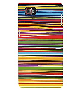 PrintVisa Color Stripes Pattern 3D Hard Polycarbonate Designer Back Case Cover for Lenovo Vibe Z2 Pro K920