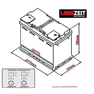 LANGZEIT Autobatterie 12V 77Ah ersetzt 70AH 72AH 74AH 75AH 77AH 80AH 68AH from LANGZEIT