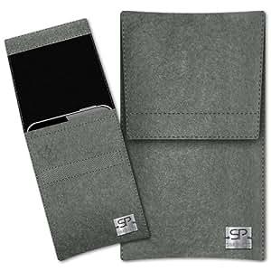 SIMON PIKE Hülle Handytasche Sidney 1 elefantengrau für Apple iPhone 5S 5C 5 aus Filz