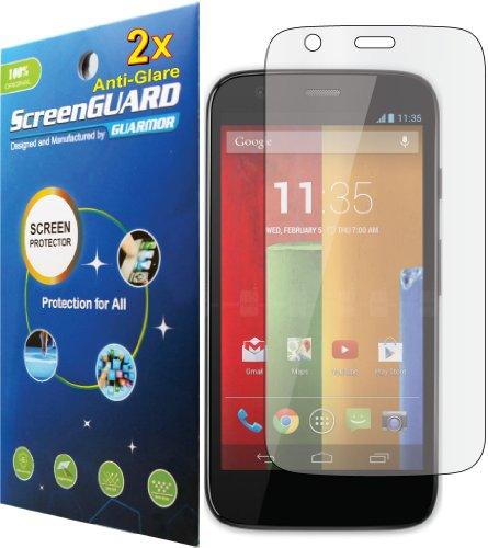 2X Motorola Moto G Xt1032 Premium Anti-Glare Anti-Fingerprint Matte Finishing Lcd Screen Protector Guard Shield Cover Kits. (Guarmor Brand)