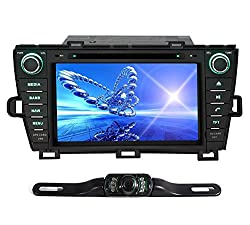 See Pumpkin 8 Inch For Toyota Prius 2009-2013 In Dash HD Touch Screen Car DVD Player GPS/BT/USB/SD/FM/AM Radio Stereo Navigation with free reverse backup rear view reversing camera as gift (driver is on the right) Details