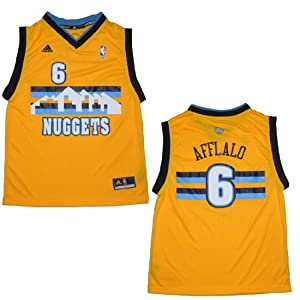 NBA DENVER NUGGETS AFFLALO #6 Youth Pro Quality Athletic Jersey Top by NBA