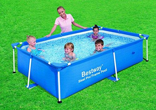 Bestway 56041 piscina rettangolare struttura rigida for Piscina rigida rectangular