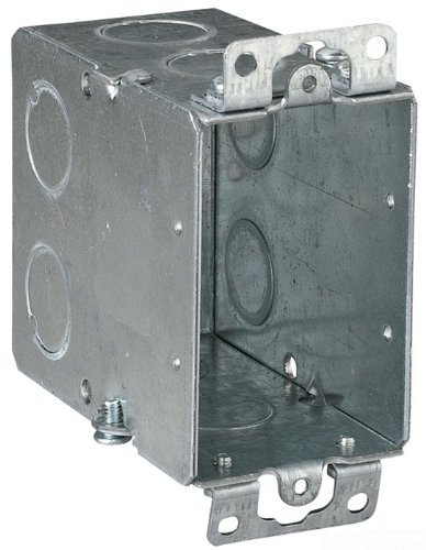 Thomas & Betts Cy-1/2 3-Inch Length By 2-Inch Width By 3-1/2-Inch Depth Galvanized 1 Gang Old Work Welded Construction Gangable Switch Box, 25-Pack