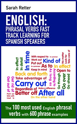 ENGLISH: PHRASAL VERBS FAST TRACK LEARNING FOR SPANISH SPEAKERS: The 100 most used English phrasal verbs with 600 phrase examples.