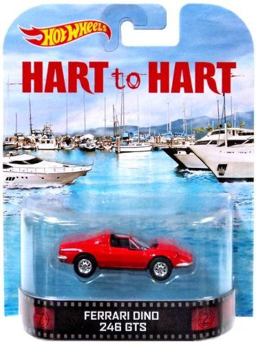 Hot Wheels Hart to Hart Ferrari Dino 246 GTS Die-Cast Retro Entertainment Series
