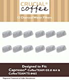 12 Capresso 4640.93 Charcoal Coffee Filters, Fits Capresso CoffeeTeam, Designed & Engineered by Crucial Air