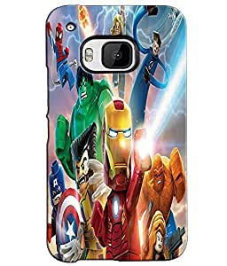 EU4IA Lego Marvel Super Hero Pattern MATTE FINISH 3D Back Cover Case For HTC ...