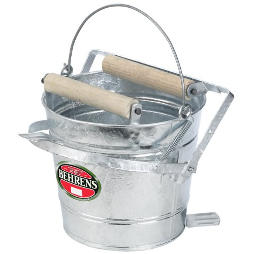 Great Deal! Behrens Galvanized Mop Bucket with Rollers, 3-Gallon
