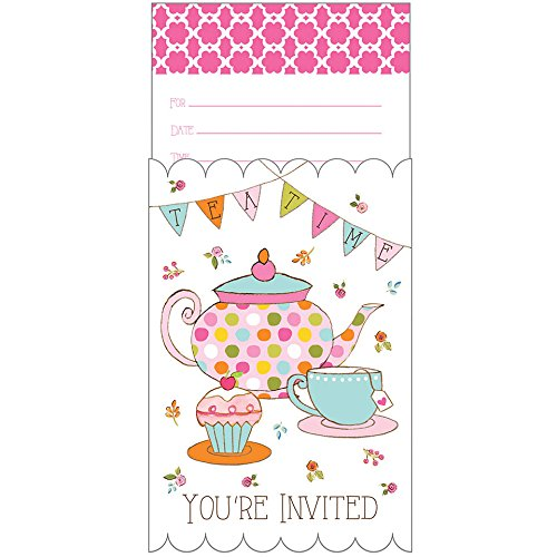 Tea Party Pop-up Invitation (8) Invites Party Supplies