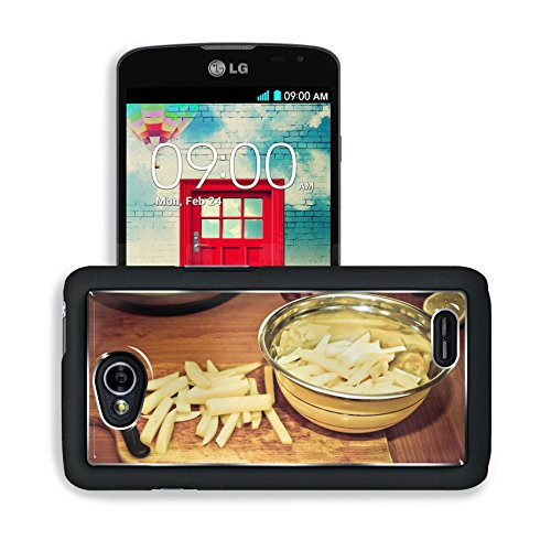 Luxlady Premium LG Optimus L70 Dual Aluminum Backplate Bumper Snap Case Potato French Fries Vegetables Image 436871 (Lg Optimus L70 Case French Fries compare prices)