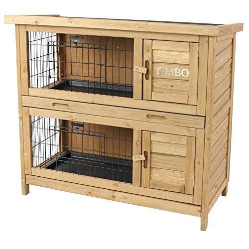 kaninchenstall hasenstall emma auf 2 etagen 92x45x81. Black Bedroom Furniture Sets. Home Design Ideas