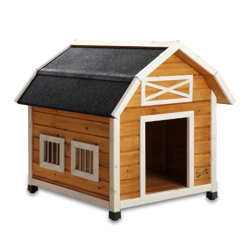 Pet squeak the barn dog house medium doggie house depot for Pet squeak dog house