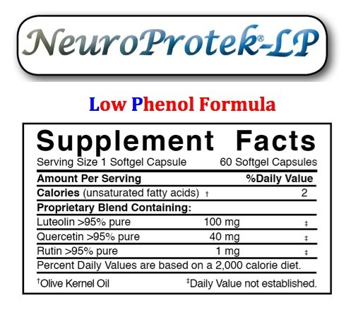 NeuroProtek LP - Low Phenol Formula - 4 Month Supply