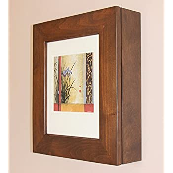Caramel Picture Perfect Medicine Cabinet, a wall-mount picture frame medicine cabinet without mirror (Available in White, Coffee Bean, & Caramel)