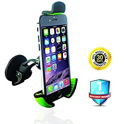 Car Mount, QuesonicTM Universal Windshield Smartphone Car Mount holder for iPhone 6 Plus 5S 5C 5, Samsung Galaxy S6 Edge S5 S4, LG G4, Sony Xperia, Nokia Lumia, HTC, Nexus size up to 6.3 inch (CWS7)
