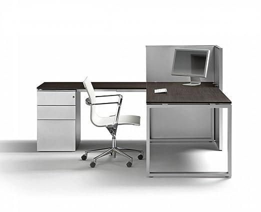 Schreibtisch mit Container LOOPY, Eckschreibtisch, Winkelschreibtisch, Arbeitszimmer, hochwertige Burommöbel