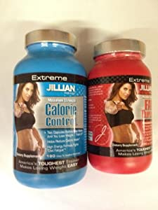 2 Pack- Jillian Michaels Extreme Maximum Strength Dietary Supplement: 180 Metacaps of the Calorie Control & 120 of the Fat Burner (Special Offer)