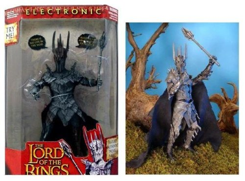 Buy Low Price Toy Biz Lord of the Rings Sauron Figure – Electronic Light Up and Sound (B001UG8T5Q)